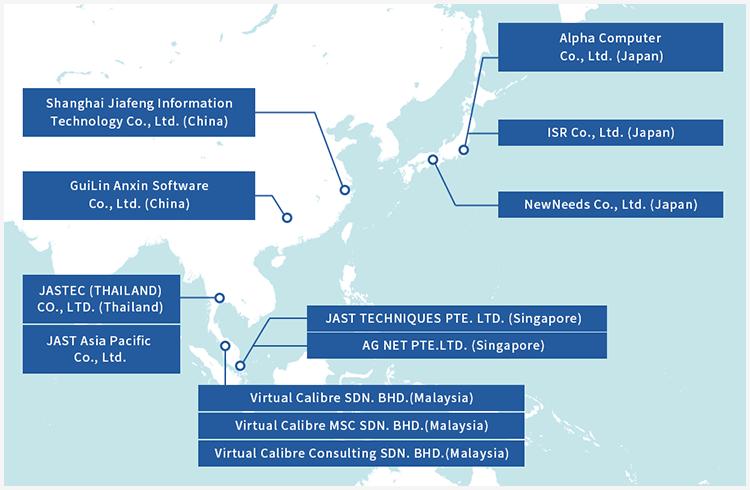 Group Companies Map